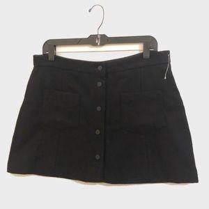 NEW Zara Trafaluc Black Mini Wool Skirt